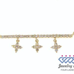 Real Natural Diamond Fancy Necklace Yellow Gold